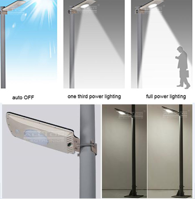 motion sensor all in one solar led street light-8