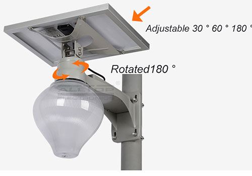ALLTOP 12w solar street light popular for outdoor yard-5