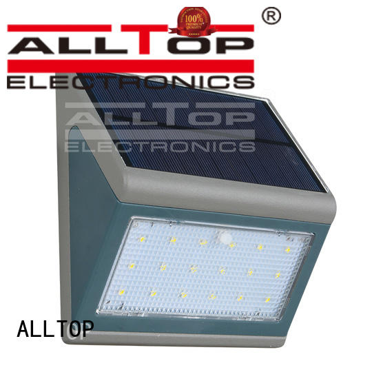solar wall lamp aluminum for garden ALLTOP
