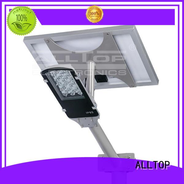 outdoor cob waterproof solar street light manufacturer ALLTOP manufacture
