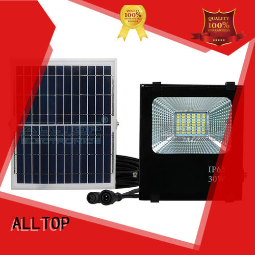 ALLTOP portable solar powered flood lights motion sensor ODM for spotlight