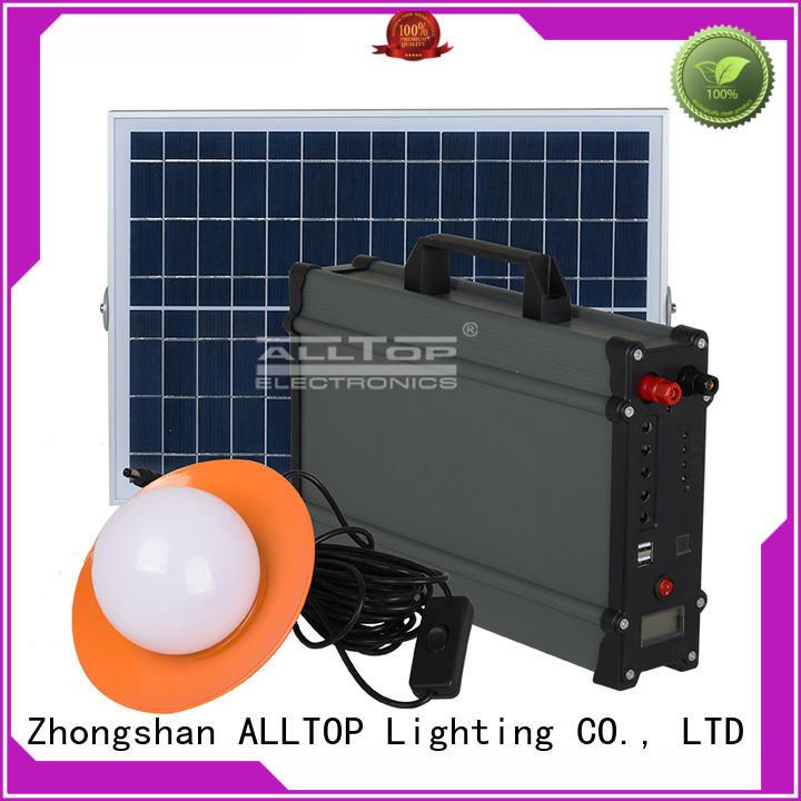 system battery solar led lighting system powered ALLTOP