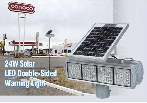 ALLTOP -Hight Quality Solar Power Led Flashing Light Warning Traffic Light-7