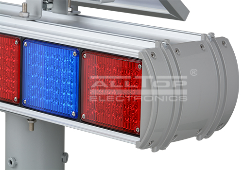 ALLTOP -Hight Quality Solar Power Led Flashing Light Warning Traffic Light-8