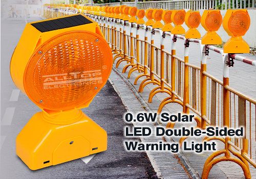ALLTOP -Solar Traffic Signal Portable Double Sided Solar Led Warning Light-1