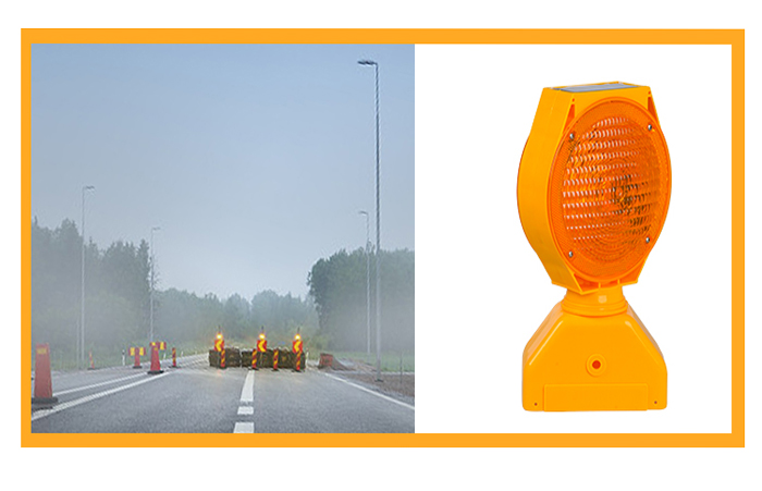 ALLTOP -Solar Traffic Signal Portable Double Sided Solar Led Warning Light-10
