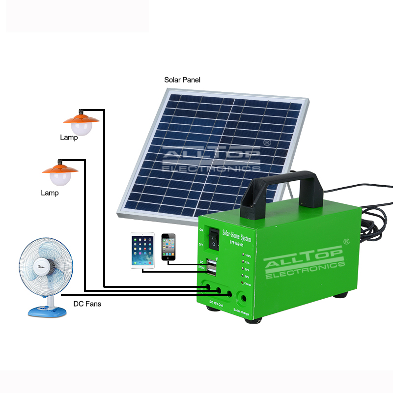 ALLTOP -12v solar lighting system ,solar house lighting system | ALLTOP