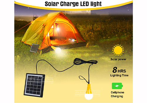 ALLTOP -Solar Led Wall Pack Outdoor Camp Portable Energy Solar Led Light-1