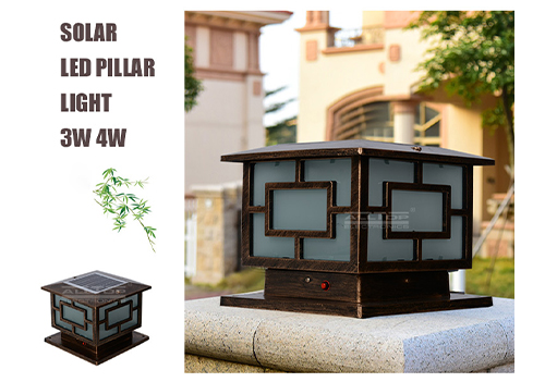fancy design solar pillar lights bulk production for landscape-3