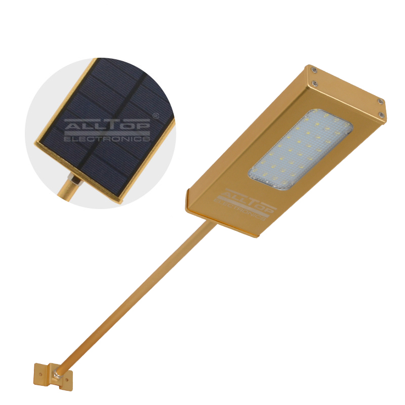 ALLTOP -Modern garden outdoor IP65 waterproof solar led wall light 5w