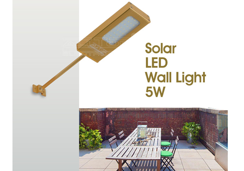 ALLTOP -Solar Led Wall Lamp | Modern Garden Outdoor Ip65 Led Wall Light-1