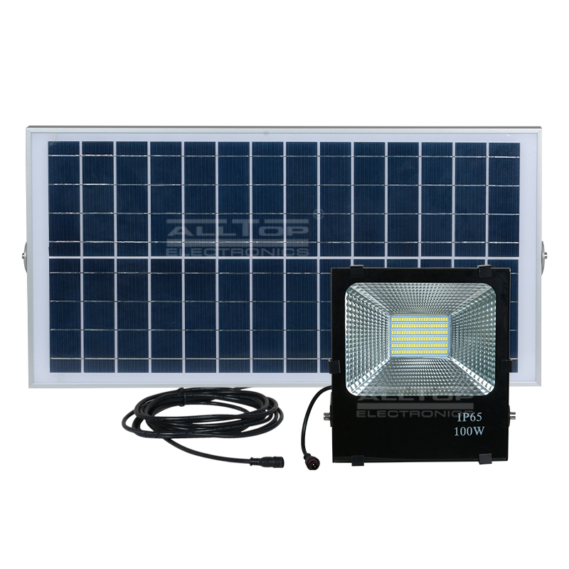 ALLTOP -High power stadium lighting square ip65 outdoor waterproof 10w 20w 30w 50w 100w solar led fl