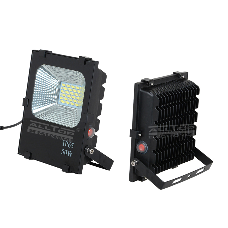 ALLTOP -High power stadium lighting square ip65 outdoor waterproof 10w 20w 30w 50w 100w solar led fl-1