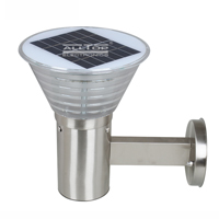ALLTOP -Solar Wall Lantern | High Lumen 5w Stainless Steel Outdoor Solar Led Wall