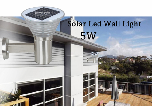 ALLTOP -Solar Wall Lantern | High Lumen 5w Stainless Steel Outdoor Solar Led Wall-1