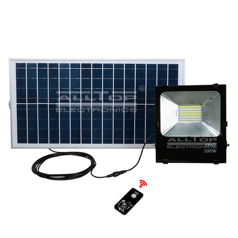 ALLTOP -High brightness ip65 waterproof outdoor SMD 10watt 20watt 30watt 50watt 100watt solar led fl-1