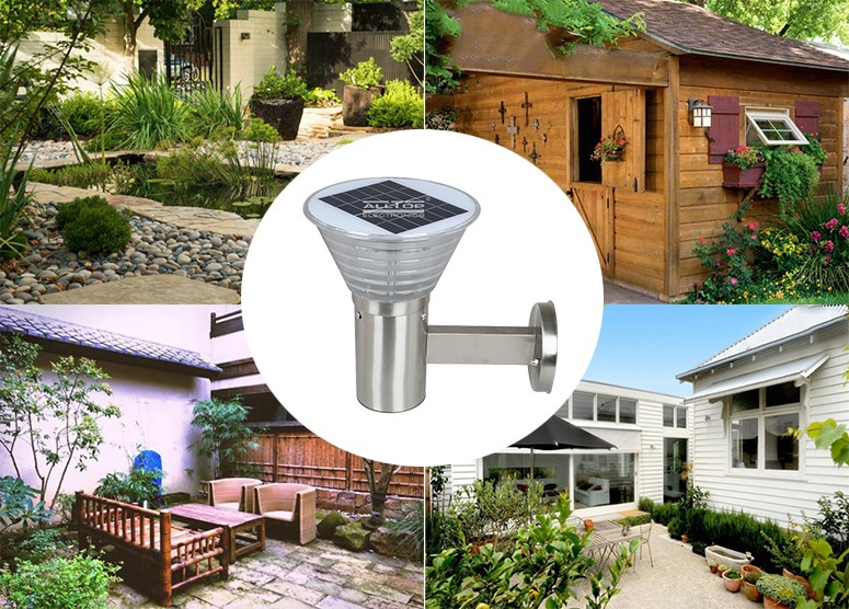 ALLTOP -Find Solar Wall Sconce High Lumen 5w Stainless Steel Outdoor Solar Led-9