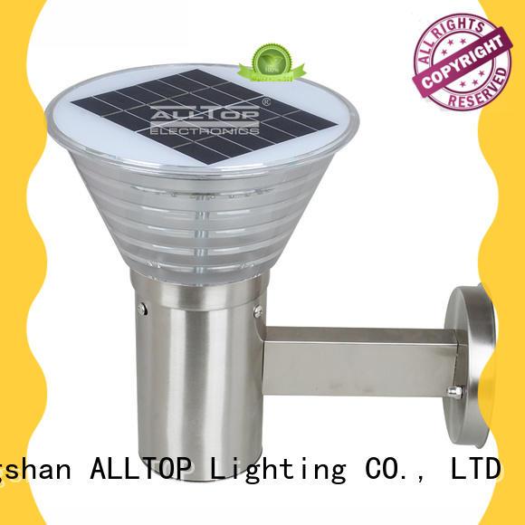 Hot aluminum solar wall lantern stainless modern ALLTOP Brand