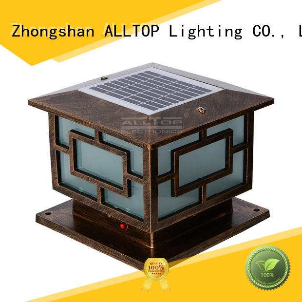 solar powered light post decoration modern classical ALLTOP Brand