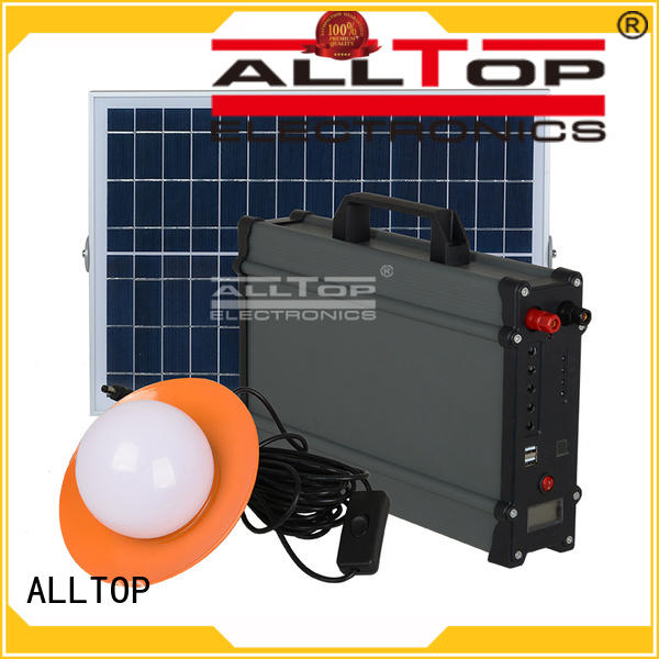 battery potable solar led lighting system system ALLTOP Brand
