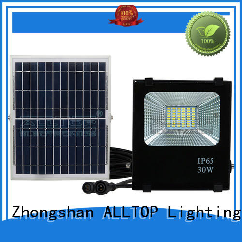 ALLTOP Brand foldable solar flood lights rechargeable factory