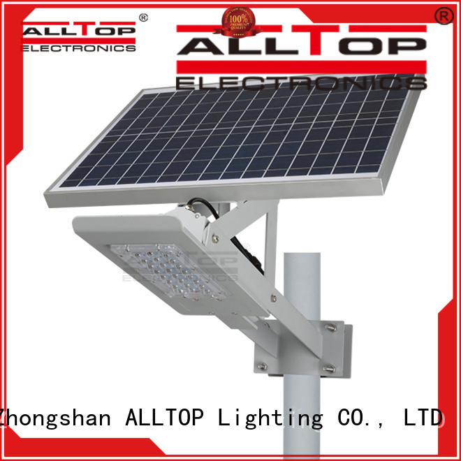 motion sensor solar powered led street lights latest design for landscape ALLTOP