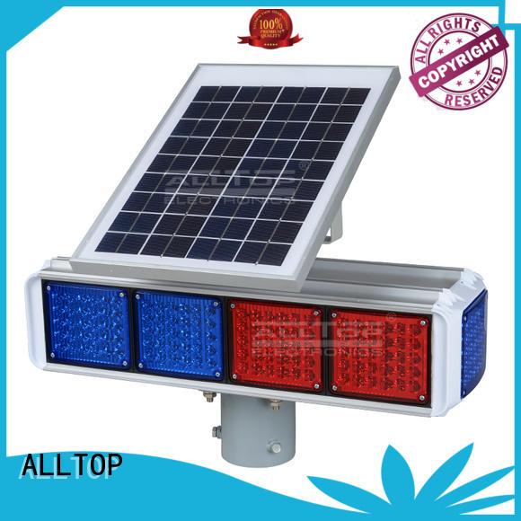 warning solar powered traffic lights flashing ALLTOP company