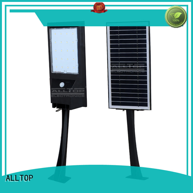 ALLTOP modern solar pir wall light aluminum for party