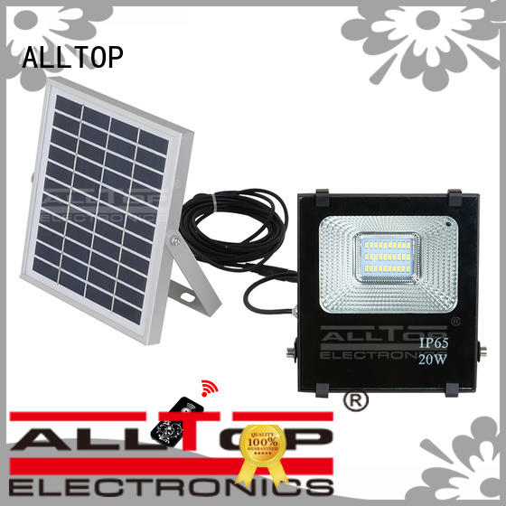 square solar powered flood light dusk to dawn OEM for stadium ALLTOP