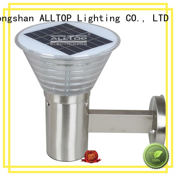 ALLTOP modern solar led wall light housing for party