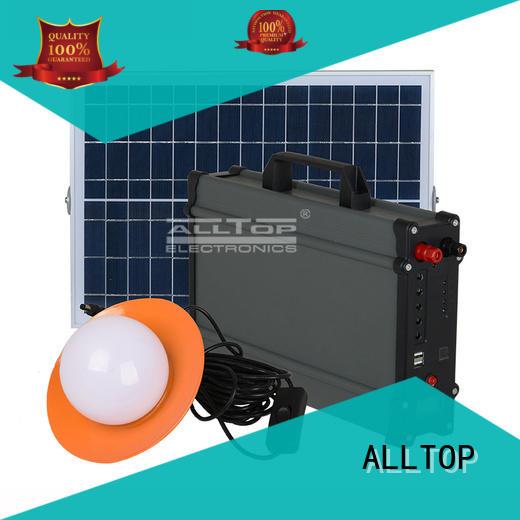 ALLTOP portable solar power generator system mini indoor lighting