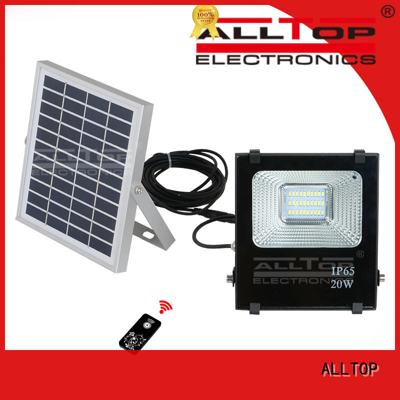 ALLTOP Brand rechargeable solar flood lights quality factory