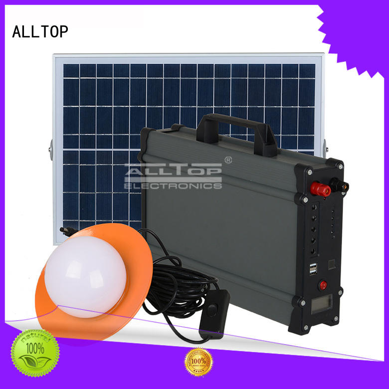 mini solar panel lighting system at discount for outdoor lighting ALLTOP