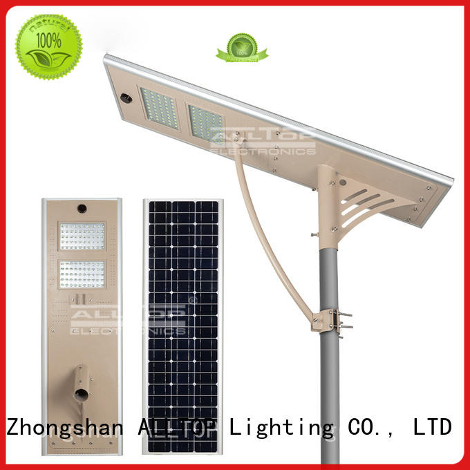 outdoor sensor light ALLTOP Brand all in one solar street lights factory
