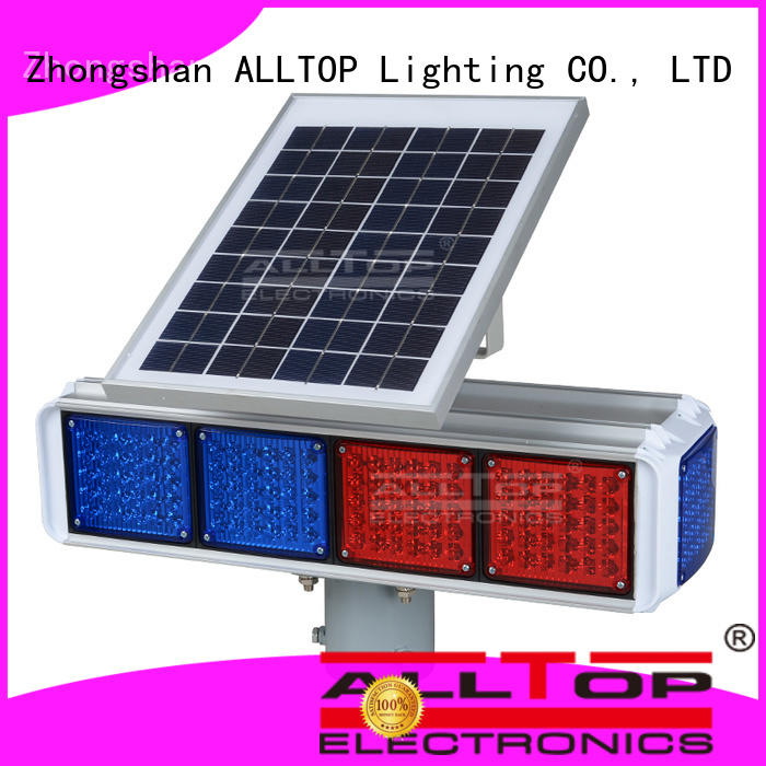 ALLTOP waterproof solar traffic signal road signs for safety warning