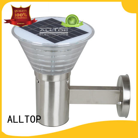ALLTOP waterproof black solar wall lights washer for party