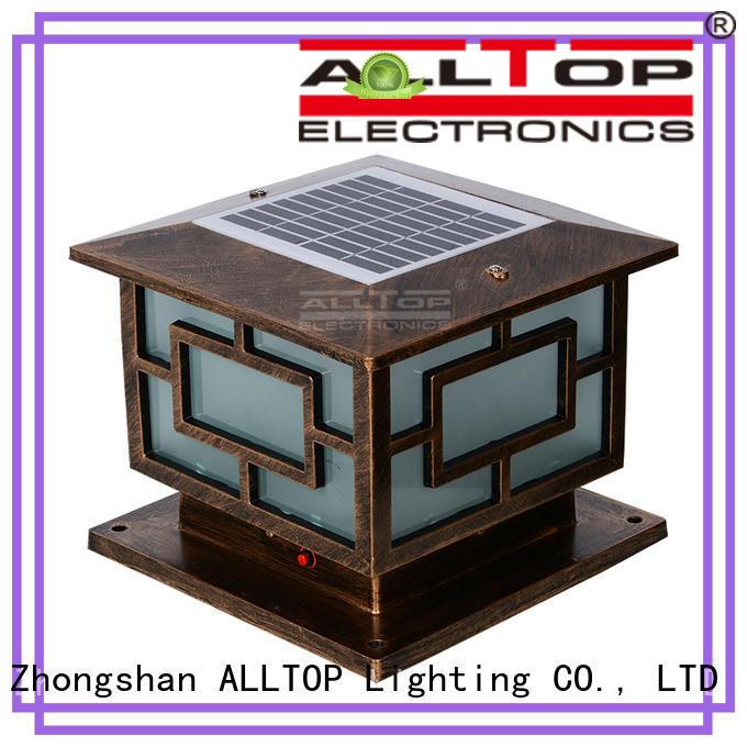 solar pillar lights classical for landscape ALLTOP