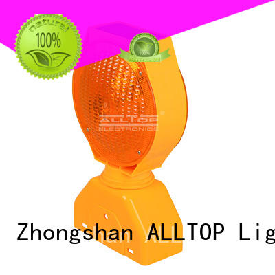 ALLTOP waterproof solar traffic light barricade for workshop