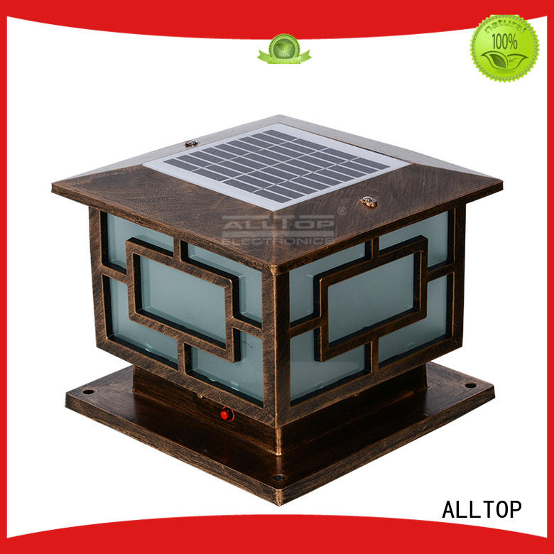 Custom landscape outdoor solar pillar lights ALLTOP modern