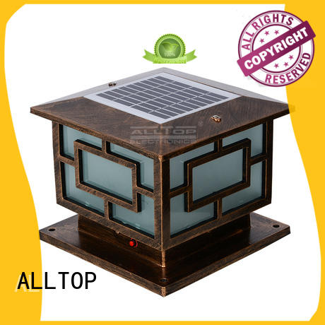 ALLTOP custom watt solar pillar lights classical for decoration