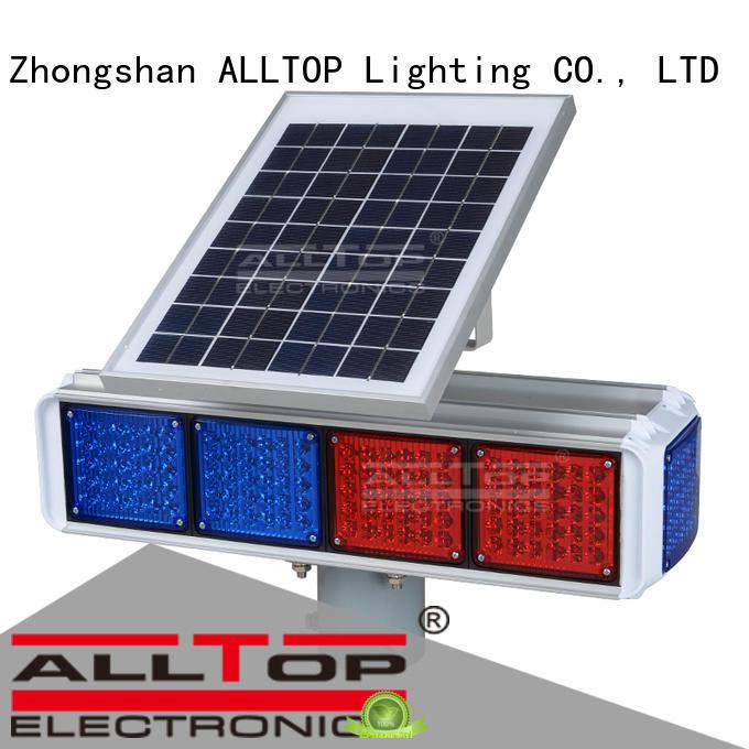 solar powered traffic lights double light traffic Warranty ALLTOP