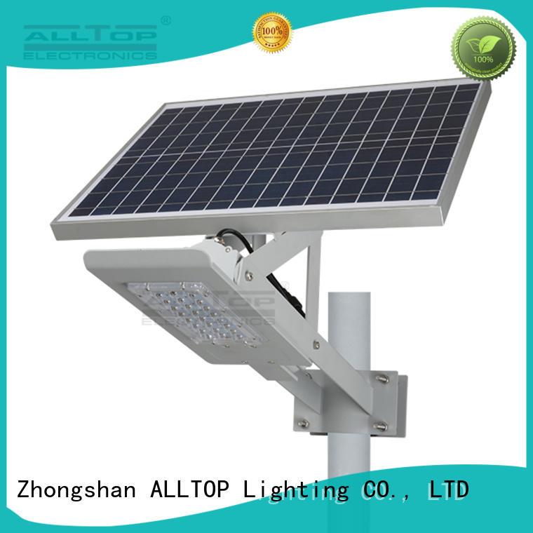 ALLTOP 20w solar street light supplier for playground
