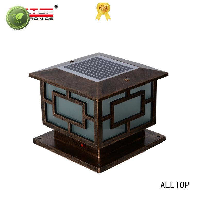 fancy design solar pillar lights bulk production for landscape