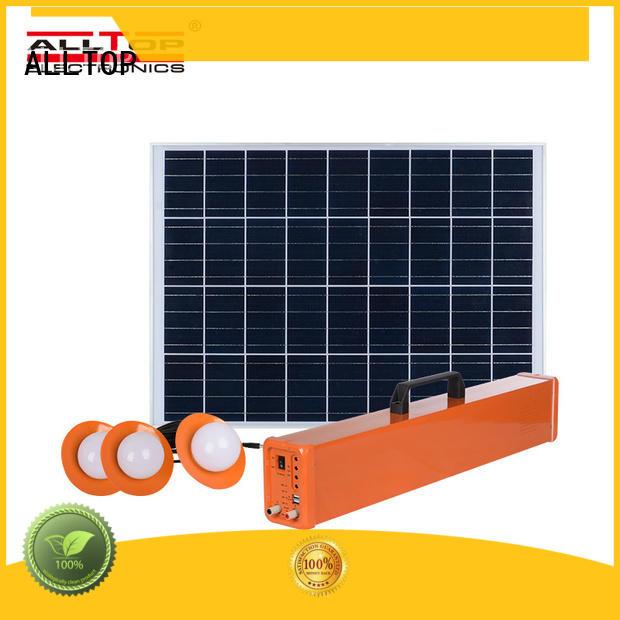ALLTOP multi-functional solar dc lighting system supplier for camping