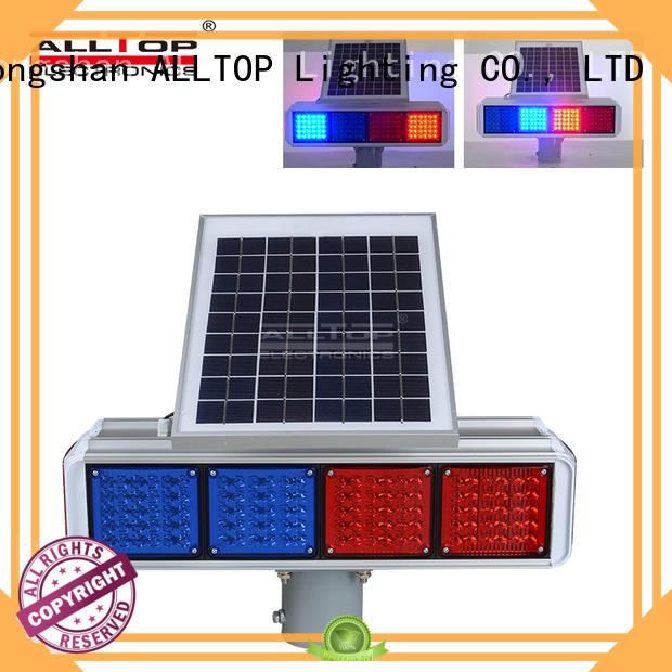 Portable 30w 36w waterproof double-side solar led traffic warning light