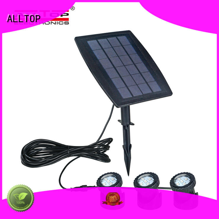 ALLTOP solar pillar lights bulk production for landscape
