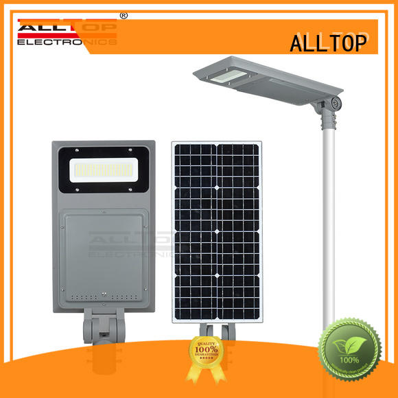 Quality ALLTOP Brand all in one solar street lights integrated lumen