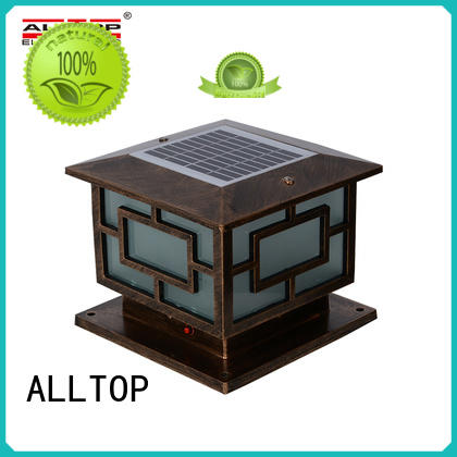 ALLTOP energy saving solar garden lamp post supplier for decoration