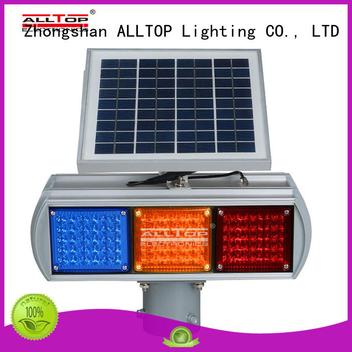 Wholesale traffic warning solar traffic light ALLTOP Brand