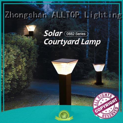 solar powered light post main gate for landscape ALLTOP